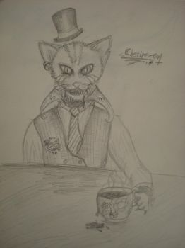 Chesire Cat sketch by Zornmuehle