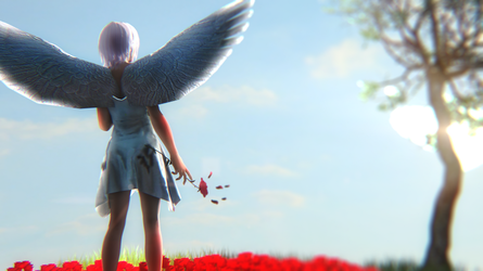 Angel's cry by Mnomemetic