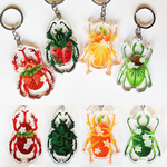 Fruit Beetle Keychains by SnowNeana