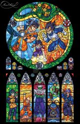 Dragon Ball Z Stained Glass by nenuiel
