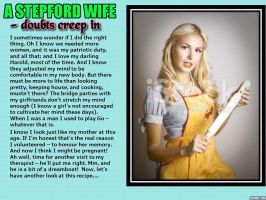 The Stepford Wife - doubts creep in (TG caption) by p-l-richards
