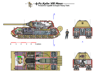 Maus V2 cutaway color by tacrn1