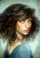 lady with curly hair by MousyM
