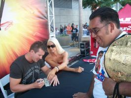 ted dibiase and maryse by CaptainMarvelous