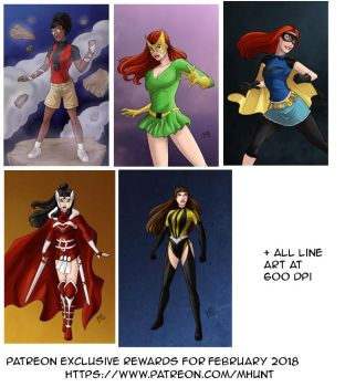 Patreon Exclusive Rewards for February 2018 by mhunt