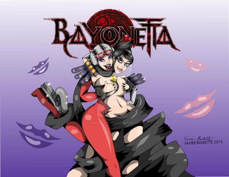 Bayonetta and Jeanne Color by darkmatter18