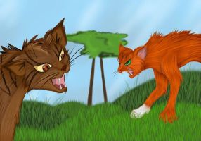 Brambleclaw and Squirrelflight by Do-omed-Moon