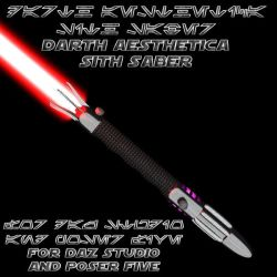 Darth Aesthetica Sith Saber by aestheticdemon