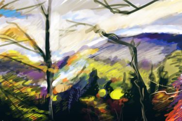 fast painting landescape 1 by bezzemes