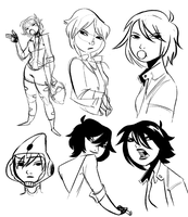 GoGo Tomago Sketches by VincentSanyoto