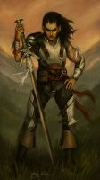 Orc-Blooded Huntress by NickRoblesArt
