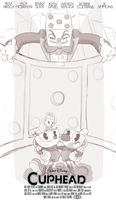 Cuphead Movie Teaser Poster (Sketch) by BlackMasqrade