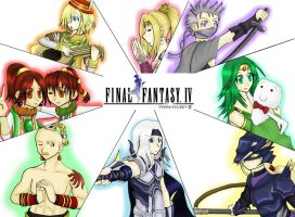 Final Fantasy IV by OceanLeviathan