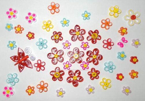 Quilling Flowers by designermetin
