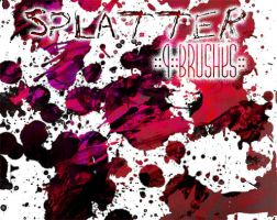 ::Splatter:: 9 Brushes by Sjetiska