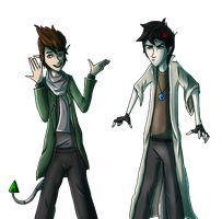 Mori and Ari: Outfit Swap by LivingAliveCreator