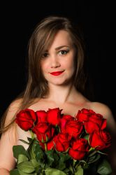 Kelly St Claire  -  Love red roses by Edwardv17