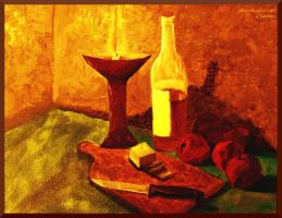 still life with flaming chalic by abaldwin