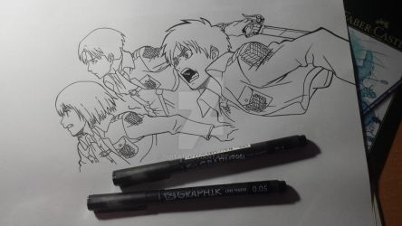 w.i.p. Attack on Titan by suitae