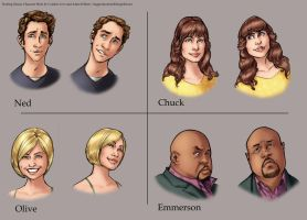 Pushing Daisies Characters by ComfortLove