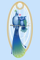 Feathered Love by sadiekate