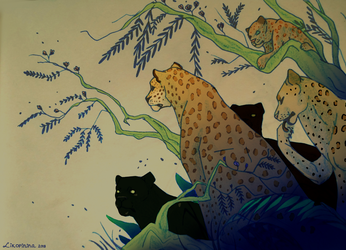 Five Leopards by Likopinina