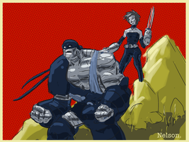X-Men of the Day:  AOA Colossus and Kitty by NelsonHernandez