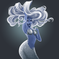 Blue Mermaid by Katherine-Olenic