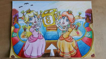 Peach and Daisy in Mario Party by BveanikaS