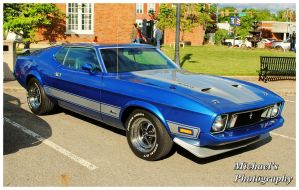 A Blue Mach 1 Mustang by TheMan268