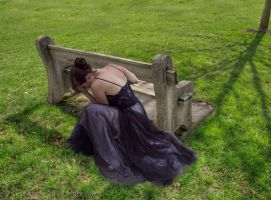 Bench, girl by Lectrichead