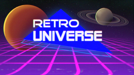 Retro Universe Wallpaper by RetroUniverseArt