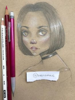 Toned Paper Drawing by lovenomous