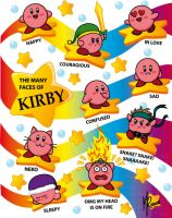 The Many Faces of Kirby by pixlem