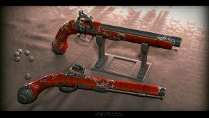 Flintlock pistol 1 by Avitus12