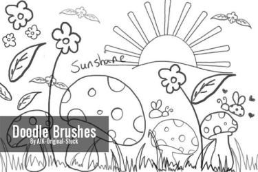 Doodle Brush pack by AJK-Original-Stock