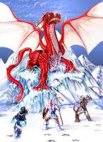 Red Dragon on ice by H-Minus