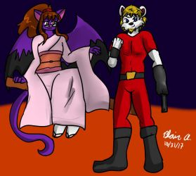 Halloween 2017 with Flitten and Gen by wrytergirl