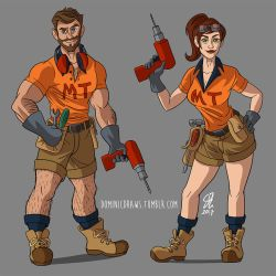 Tradies Commission by DominicDrawsArt
