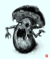 Mushroom-Zombie (with Video process) by DrawnM0nster
