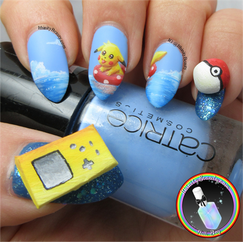 3D Pokemon Nails by Ithfifi