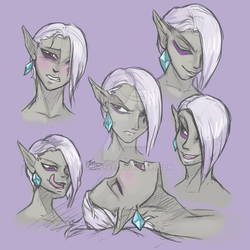 Ghirahim expression doodles by MingChee