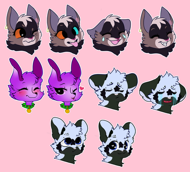 Stickers commission by Alroura