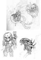 AvP sketches by Amwuensch