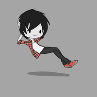 Hovering Marshall Lee by Baa-Chan01