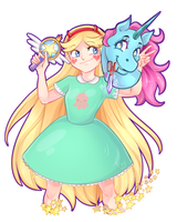 Star vs. the Forces of Evil fan Art by V1ta13