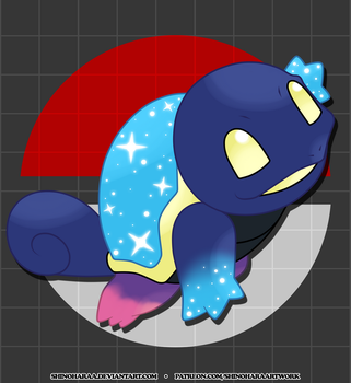 007 Cosmic Squirtle by Shinoharaa