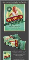 Retro Dream Party Flyer Template by hugoo13