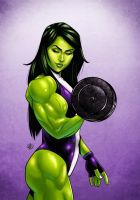 She-Hulk by drawerofdrawings