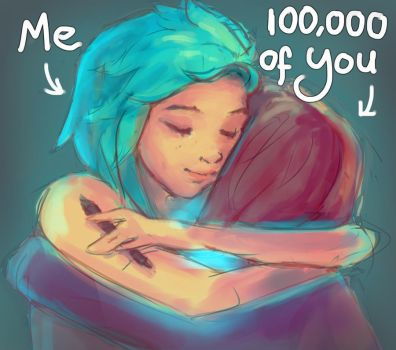 Thank You 100k Watchers by DestinyBlue